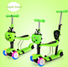 Baby mini scooter with seat and pusher/Multi-function 3 in 1 kids pedal scooter Baby foot scooter