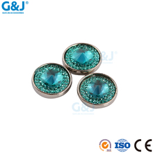 Guojie brand ladies suit clothing accessory round acylic cup with resin stone