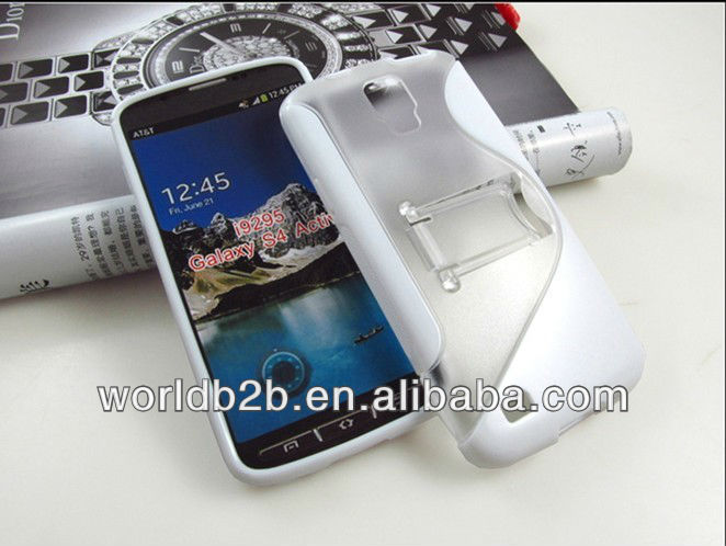 S line pc tpu combo case with stand for samsung galaxy S4 I9295 I537 active