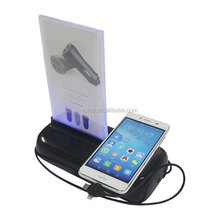 Unique design advertising menu charging station power bank shared mobile power station restaurant mobile charger