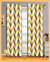 New fashion colorful wavy europe printed design sun protection curtain for living room window