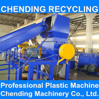 CHENDING new condition used scrap waste plastic pp pe film recycle machine crushing washing drying production line