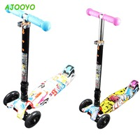 For Child Mini Scooter Kids Kick Scooter With Three Flash Wheels