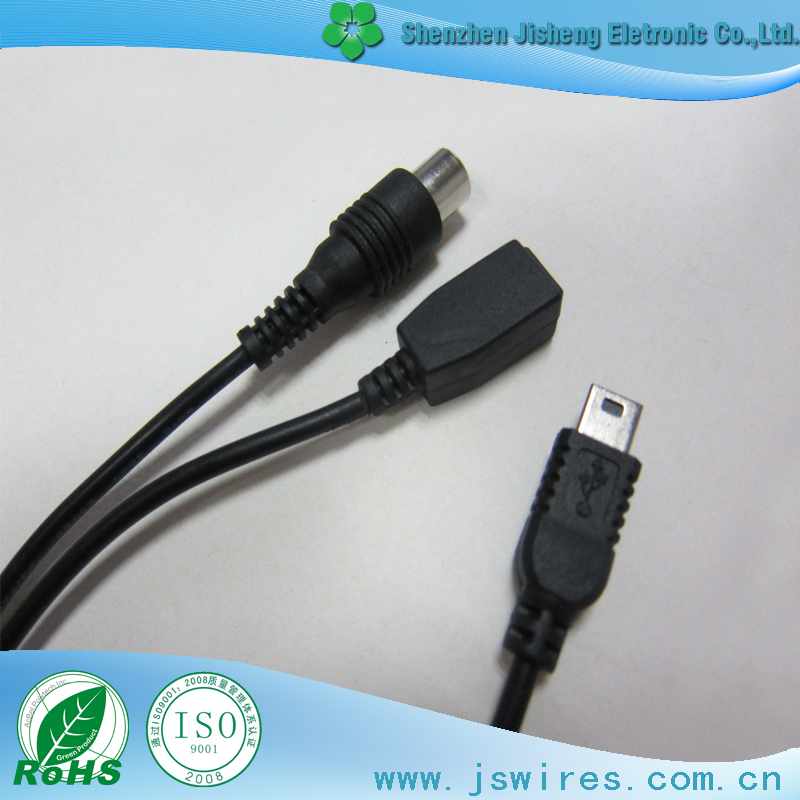 perfect quality mini 5 pin male to female with rca plug cable