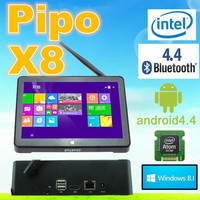 "2016 Newest Metal !Original 7"" PIPO X8 Win 8.1+Android 4.4 Dual Boot Intel Z3736F Quad Core Mini PC Tablet 2G RAM 32G ROM"