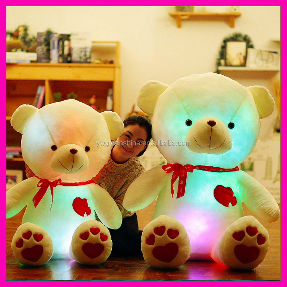 2017 New Arrive Bluetooth Led Plush Teddy Bears, Fashion Colorful Led Light UpTedddy Bear Toy