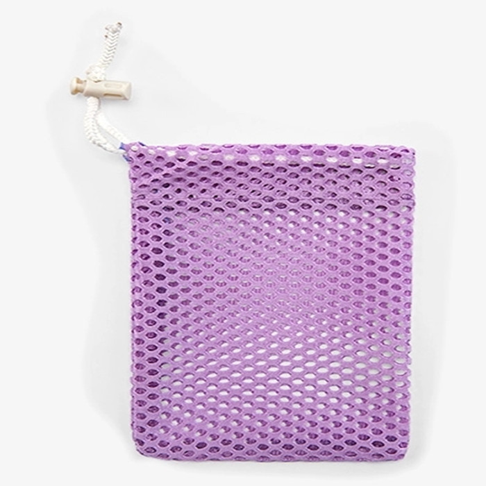 High quality multi color drawstring mesh bag