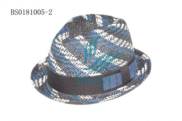 custom funny multi color straw hat bands