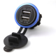 Factory price refitted motorcycles car charger dual USB 5V 4.2A car charger