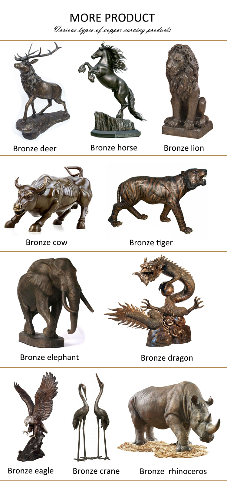 Fighting bull and bear animal bronze sculpture for sale NTBA-518Y