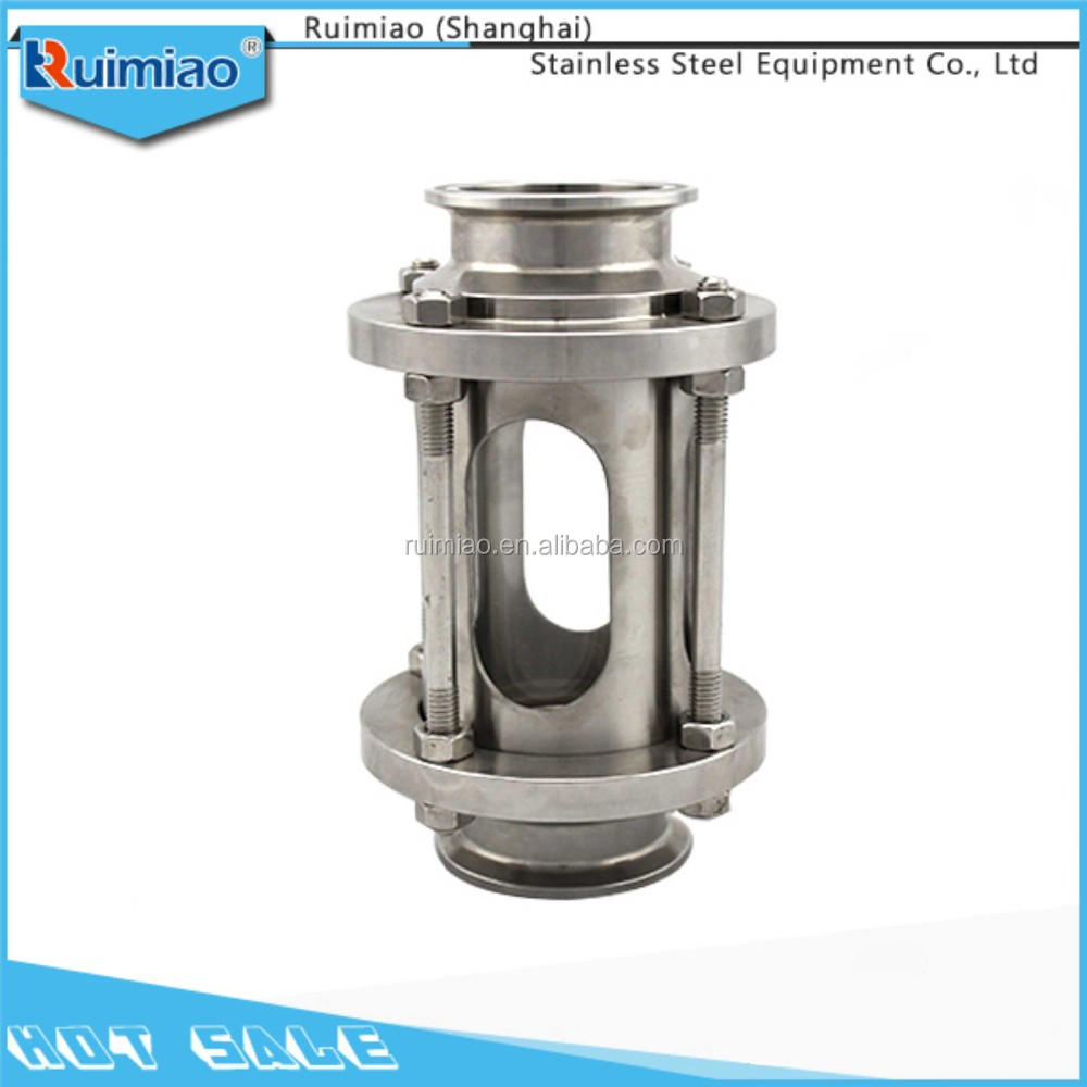 sanitary stainlss steel high pressure pipe sight glass