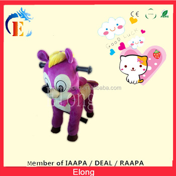 New Design! Cartoon riding on the toy/walking horse mechanical
