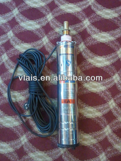 2m3/h 70m 0.5kw deep well submersible screw pump 100% copper wire