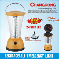portable USB rechargeable LED solar camping lantern