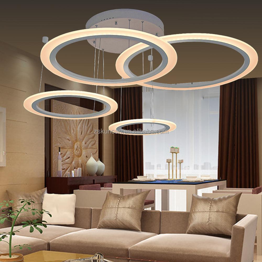 Lampadari moderni led e le luci del pendente 4- design anello ...