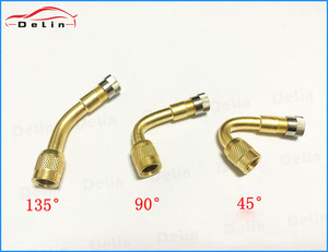 DeLin 90 Degree Brass Air Tire Valve Extension for Motorcycle Car Scooter