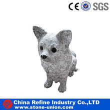 Granite Sculpture & Statue carved stone dog animals statue
