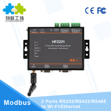 2 Ports rj45 wifi converter rs232 to wifi RS232/RS485/RS422 to WiFi/Ethernet serial device server HF2221