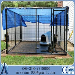2014 New 1.5x3.0x1.8mx3 runs dog house steel structure dog runs 4.5x3.0x1.8m large dog kennels