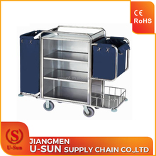 High quality housekeeping trolley housekeeping cleaning cart for hotel housekeeping equipments