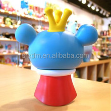 OEM high quality plastic cartoon vinyl toy 4 inches blue Bossy Bear the Random Eye Variants boats for kids