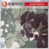 cotton camouflage flower print denim fabrics for cloths