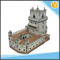 Intelligence blocks handmade 3D world famous building puzzle toys