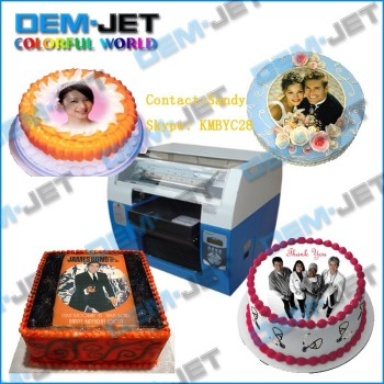 2015 Best Price Digital Cake Printer Flatbed Edible Cake ...