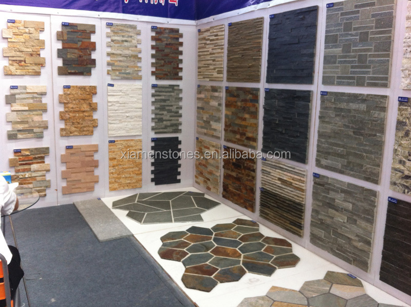 Cheap Interior Exterior Natural Slate Culture Stone Wall Paneling