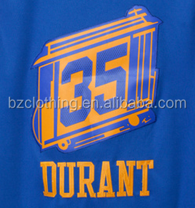 Golden State Kevin Durant #35 The City Blue Stitched National Basketball Jerseys