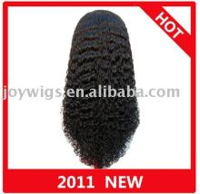 Hot selling Glamour Jerry curl Full Lace Wig/Human Hair Wig