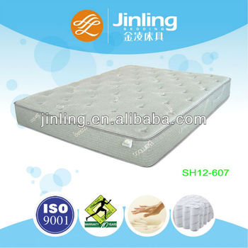 Pocket coil spring mattress with memory foam in filling