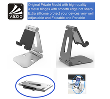 Universal aluminum table top adjustable folding lazy hands free multiple novelty smart man black mobile cell phone holder stand
