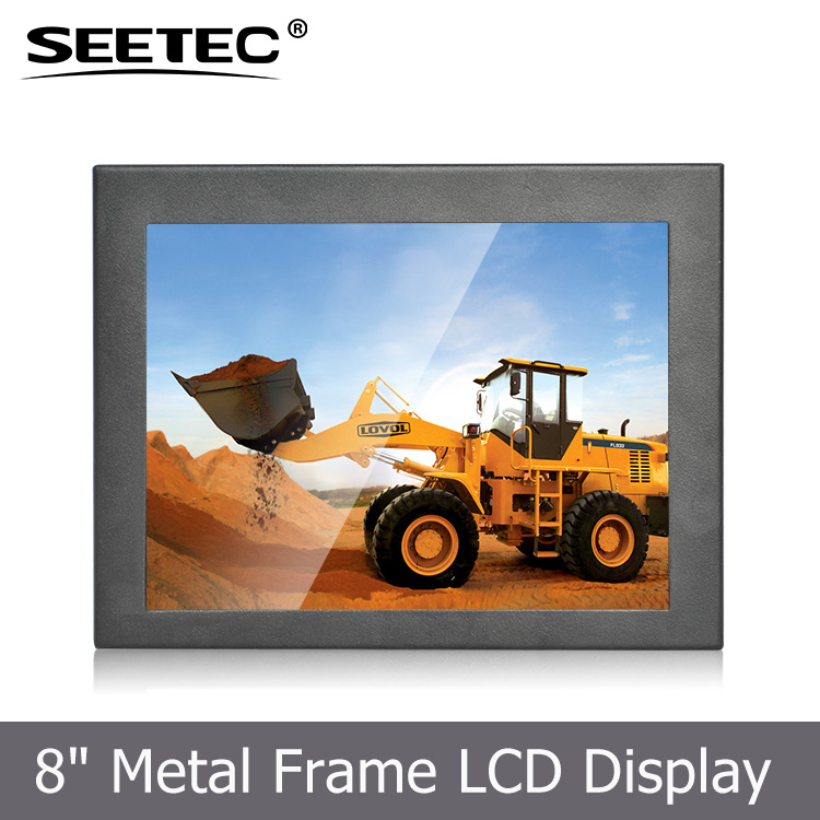 8 inch TFT dispaly IPS panel 4 wire resistive touch lcd open frame monitor