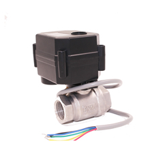 "CWX-15Q/N 2way DC12V/DC5V Stainless Steel304 3/4"" NPT motorized valve for Leak detection control system"