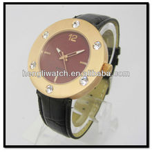 Rose Gold Men'S Diamond Watch Diamond Luxury watch with leather band