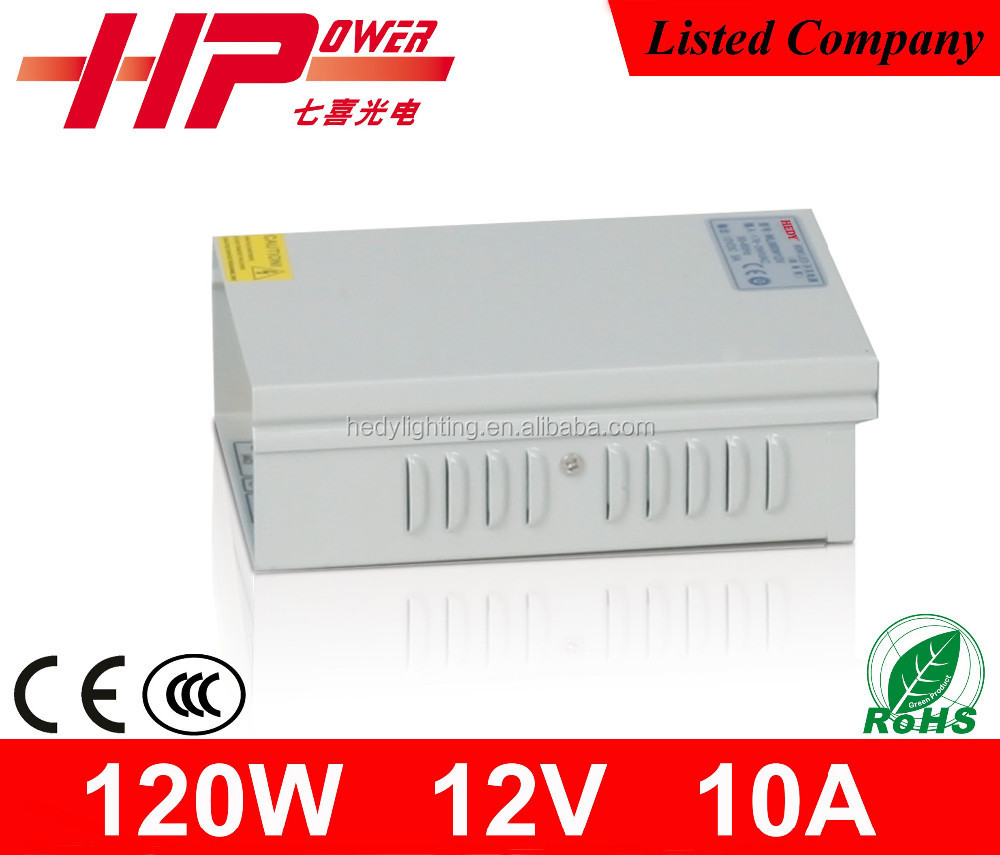 China 2 years waranty constant voltage single output 120w 12v 10a 0 to 24v adjustable power supply