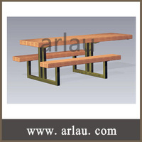Children Playground Amusement Park Recycled Plastic Wood Long Table and Bench (TB-N13)