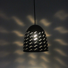 Silicone modern metal black recessed lighting pendant lamp