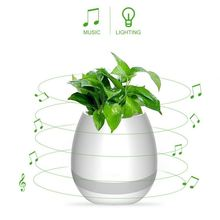 Birthday gift 90dB lighted outdoor flower pots with good speaker