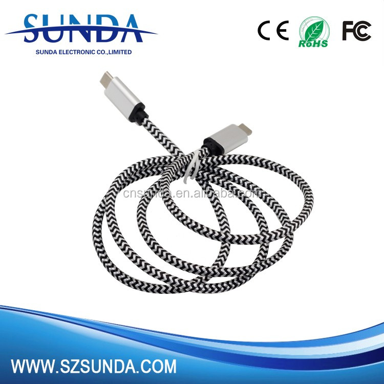 trend 2017 products Nylon usb type c data cable transfer cable Type c cable