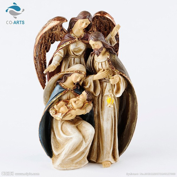 Special design durable three man modeling religious statues