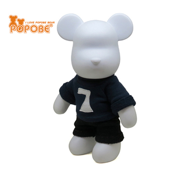 2015 New POPOBE Bear Black Clothes Promotional PVC Bear for Room Decoration