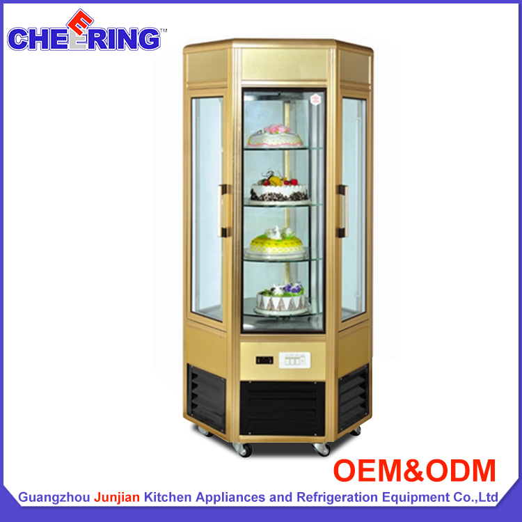 Fan cooling pastry refrigerated cake display cases / bakery display showcase