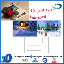 3d postcard hot picture lenticular printing PET/PP hologram building gift popular customized