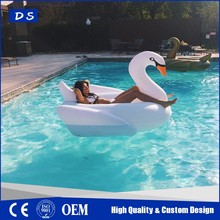 custom pool float Inflatable water pool toys white swan for sale