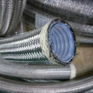 Smooth Bore SS Braided PTFE Steam Hose,Convoluted Braided Teflon Hose