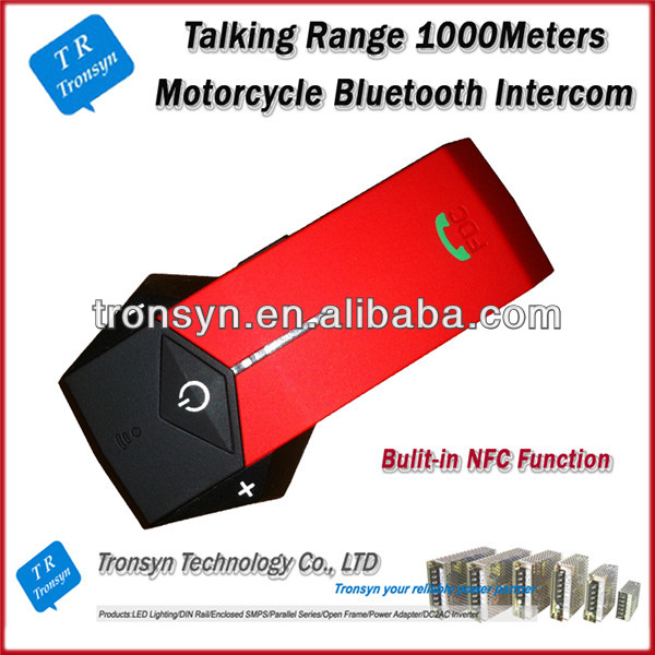 Variety Color 1000M wireless motorcycle helmet bluetooth interphone Built-in NFC Function
