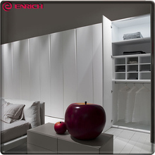 Commercial MDF board hinged door modern simple design bedroom clothes wardrobe