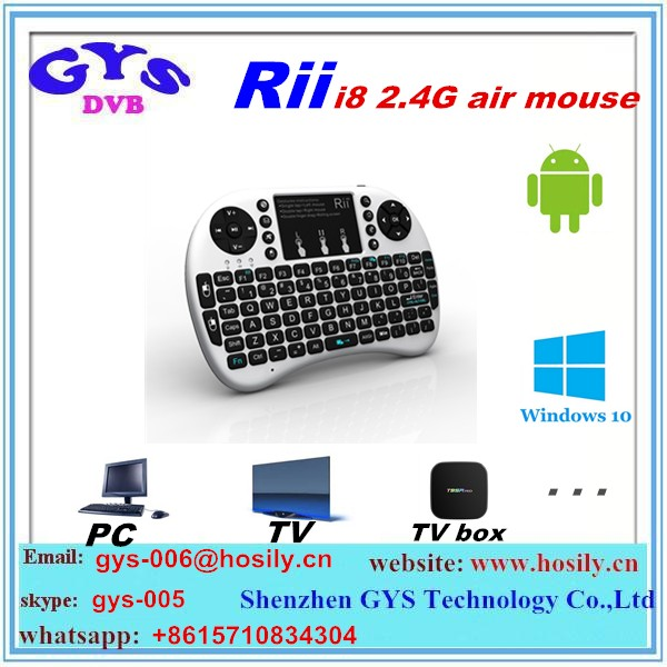 Rii Mini i8 Wireless 2.4G Keyboard with Backlight with Touchpad Gaming Air Fly Mouse For Smart TV Box Wireless Keyboard Rii i8